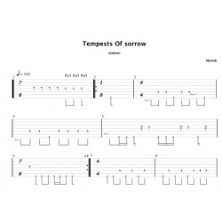 Tablatures de Tempest of Sorrow (Desert Call)